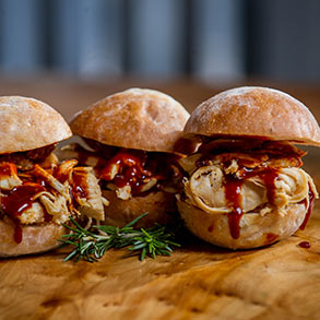 Corkys BBQ Memphis:  Pulled Chicken Sliders