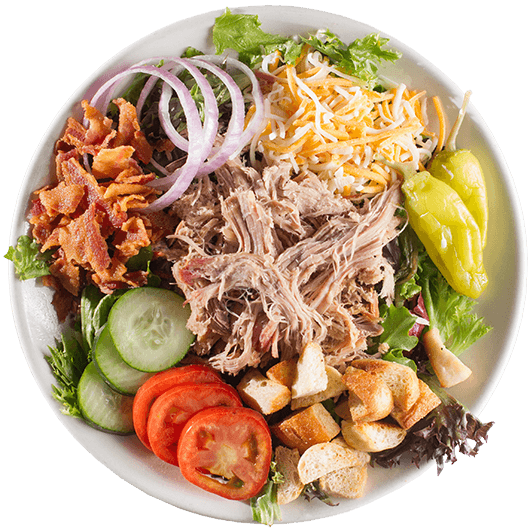 Pulled pork salad from Corky's